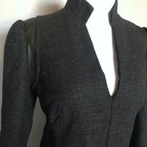 Stunning AKRIS Wool, Silk, Leather dress